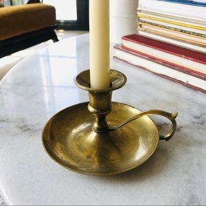 Other - Antique Brass Candle Holder